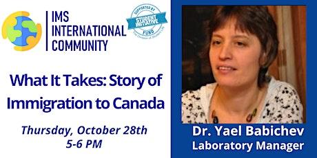 IMS-International Community 9th Seminar Series with Dr. Yael Babichev tickets