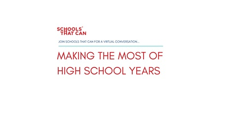 Thought Leadership panel: Making the Most of High School Years tickets