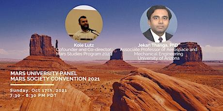 MarsU Panel during Mars Society Convention 2021 tickets