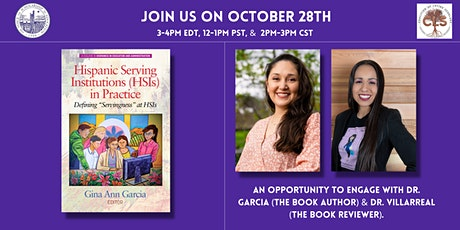 TCR Book Talk: Hispanic Serving Institutions (HSIs) in Practice tickets