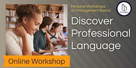 Discover Professional Language (Free Online Workshop) tickets