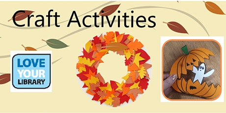 Autumn Fun- craft activities- Kenilworth Library (limited numbers) tickets
