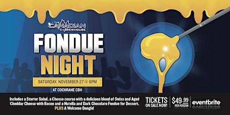 Fondue Night (Cochrane) tickets