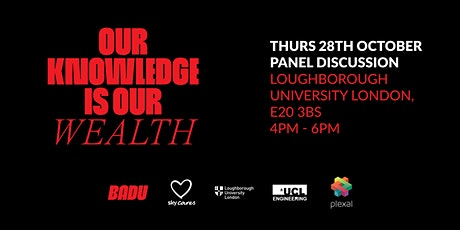 Our Knowledge Is Our Wealth - Bridging the Gap panel discussion tickets