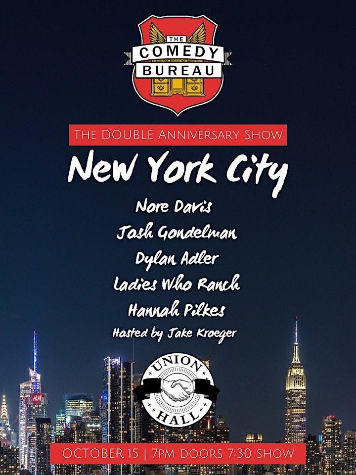 The Comedy Bureau Double Anniversary Show: NEW YORK CITY image