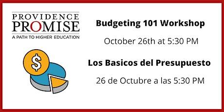 Budgeting 101// Basicos de Presupuesto tickets