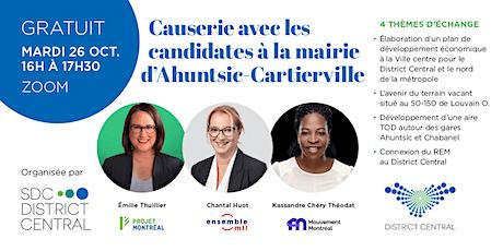 Causerie avec les candidats à la mairie d'Ahuntsic-Cartierville billets