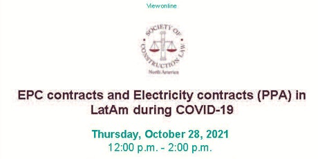 EPC contracts and Electricity contracts (PPA) in LatAm during COVID-19 tickets