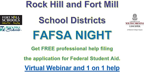 Rock Hill and Fort Mill School Districts Virtual FAFSA Night tickets