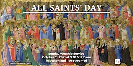 Sunday Worship - October 31, 2021- 9:30 am tickets