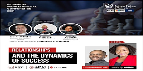 Hope Now Virtual Conference 2021: Relationships and Dynamics of Success tickets