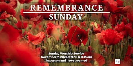 Sunday Worship - November 7, 2021- 11:15 am tickets