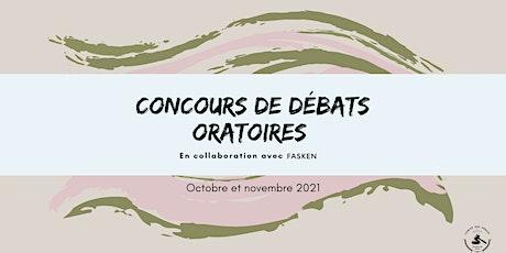 Concours de débats oratoires billets