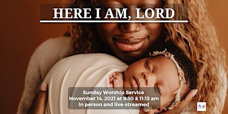 Sunday Worship - November 14, 2021- 9:30 am tickets
