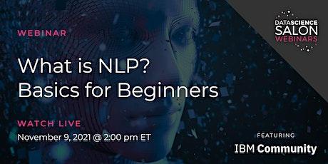 [Webinar] What is NLP? Basics for Beginners entradas