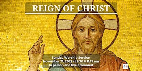 Sunday Worship - November 21, 2021- 9:30 am tickets