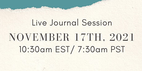 Live Journal Session w/ CJP + Waste Free Earth tickets