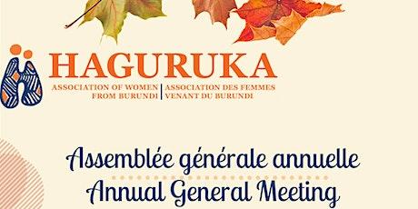 Annual General Meeting / Assemblée générale annuelle 2021 billets