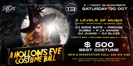 Halloween Event A Hollows Eve Costume Ball Saturday Oct. 30 tickets