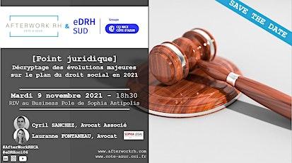SAVE THE DATE - 9 novembre - point juridique tickets