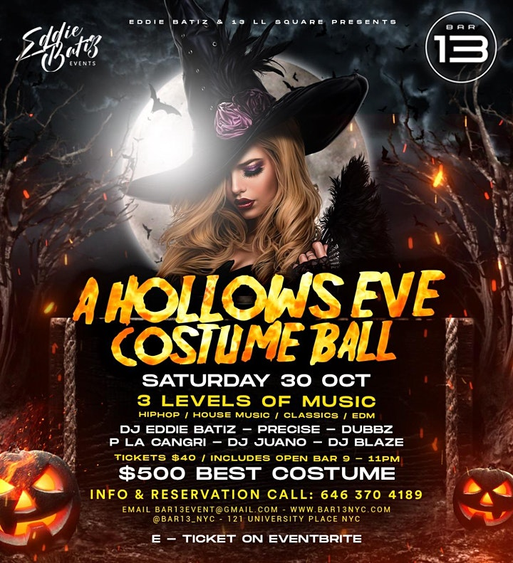 Halloween Event A Hollows Eve Costume Ball Saturday Oct. 30 image