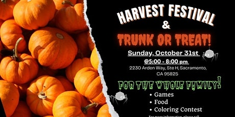 Free Community Harvest Festival &  Trunk or Treat tickets