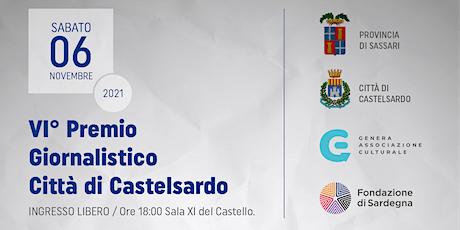 Premio Giornalistico - Città di Castelsardo VI Edizione biglietti