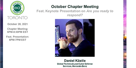 (ISC)2 Toronto Chapter: October 2021 Chapter Meeting tickets