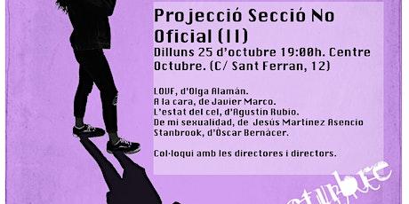 25 Oct - PROJECCIÓ SECCIÓ NO OFICIAL(II). XVa EDICIÓ CORTOCOMENIUS entradas