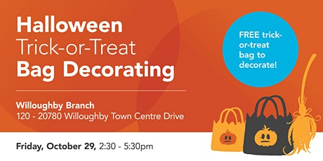 Halloween Trick-or-Treat Bag Decorating (Willoughby Branch) tickets
