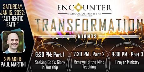 Transformation Night - 01/15/2022 tickets