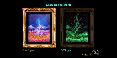 Sip and Paint (Glow in the Dark): Flying Whale (2pm Sat) tickets