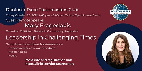 Danforth-Pape Toastmasters Club Open House tickets