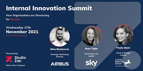 Internal Innovation Summit  - Nov 2021 - with Airbus, Sky and Lloyds Bank tickets