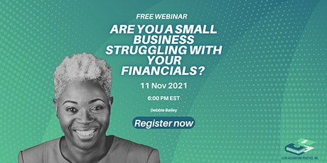Are you a small business struggling with your financials? tickets