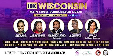10K WI Main Street Bounceback Grant Information Session tickets