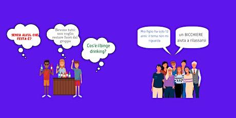 L'alcol e i giovani: certezze, dubbi e falsi miti online biglietti
