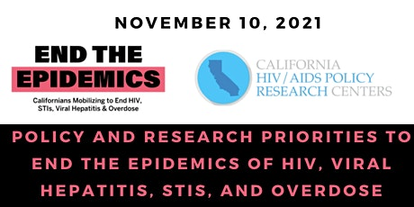 Priorities to End the Epidemics of HIV, Viral Hepatitis, STIs, and Overdose tickets