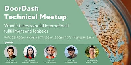 DoorDash Technical Meetup: International logistics and fulfillment biglietti