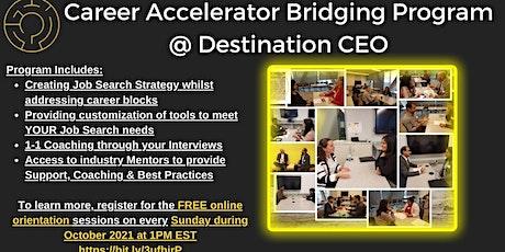 Career Accelerator Bridging Program - November 2021 tickets