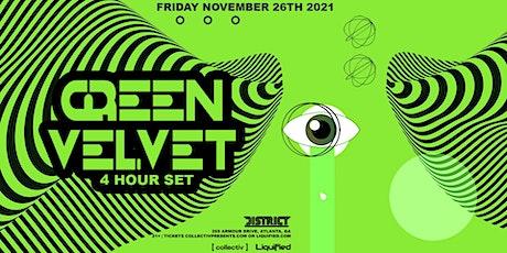 Green Velvet (4 hour set)   Friday November 26th 2021   District tickets