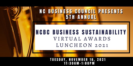 NCBC Business Sustainability Awards Luncheon -2021 tickets