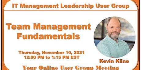 Team Management Fundamentals tickets