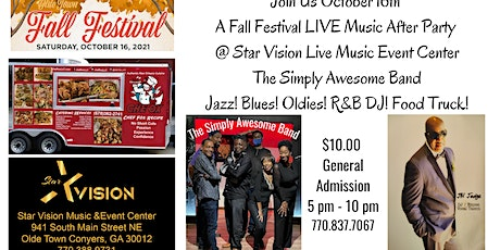 Olde Town Conyers Star Vision Fall Fest LIVE Music After Party Jazz! Blues! tickets