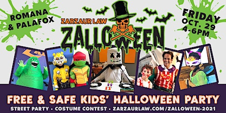"""3rd Annual """"Zalloween"""" FREE Street Party and Costume Contest for Kids! tickets"""