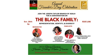 ASALH's  Joseph Taylor Branch 2021 Founder's Day Virtual Celebration tickets