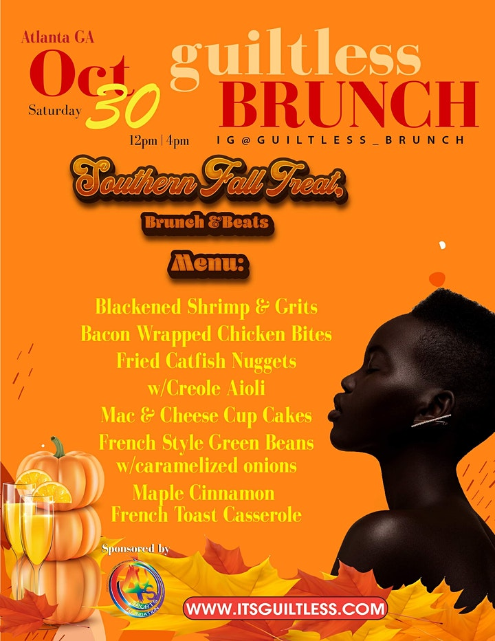 The Guiltless Brunch Presents Southern Fall Treat, Brunch & Beats Edition image