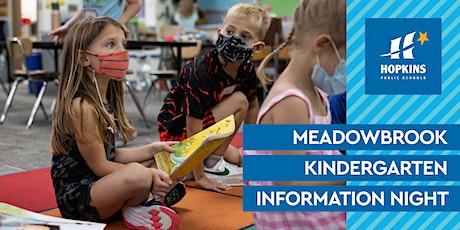 Meadowbrook Elementary Virtual Kindergarten Information Night tickets