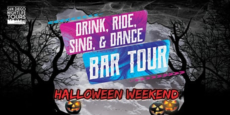 """Halloween """"Drink, Ride, Sing, & Dance!"""" Bar Tour (4 bars included) tickets"""