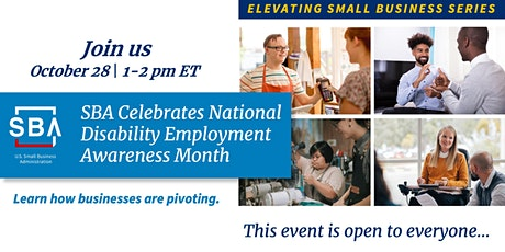 SBA Celebrates National Disability Employment Awareness Month tickets